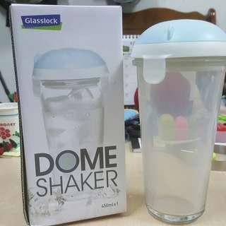 韓國樂扣-Glasslock Dome Shaker 450ml 玻璃隨身瓶/冰淇淋杯