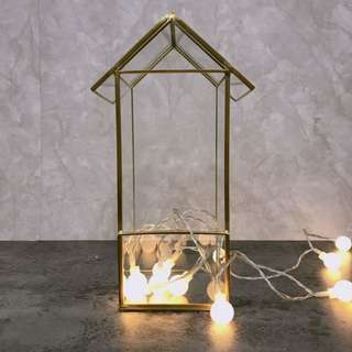 copper frame glass container
