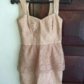 Lace-y Peach Graduation Dress