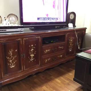 Rosewood (with Mother Pearl) TV Console