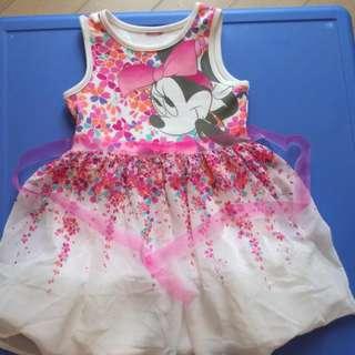 米妮 迪士尼 連衣裙 1歲 5歲