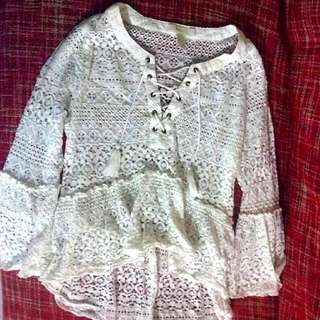 Forever 21 Peasant Style Top