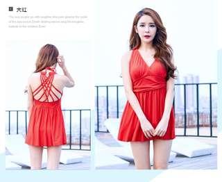 2a004609313  PRE-ORDER  Women Plus Size XXL Conservative Swimsuit