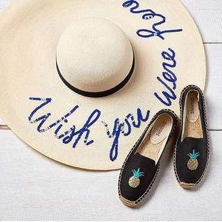 現貨出清✨🍍Soludos 鳳梨刺繡草編鞋