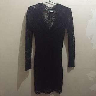 H&M Laced Black Dress