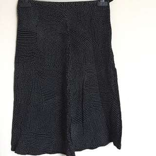 Black skirt with White Polka Dots