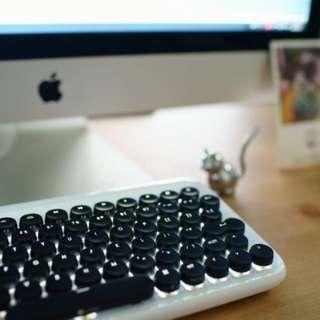 *BNIS* Lofree Bluetooth Mechanical Keyboard (Pure White)