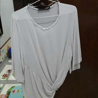 Zara Loose Knot Blouse Too