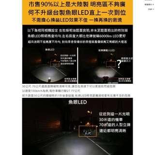 機車 LED 魚眼大燈(H4)
