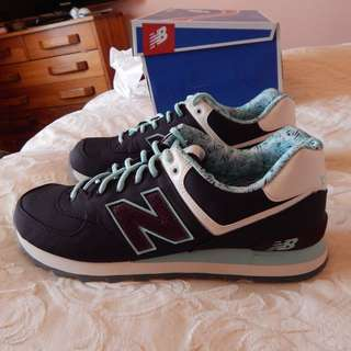 New Balance 574 mens shoes, size 12 US, brand new in box