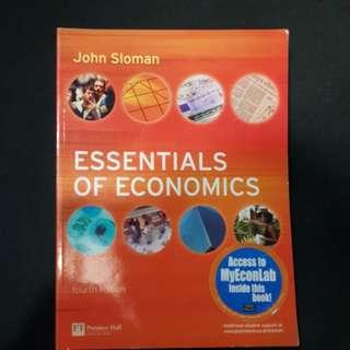 Textbook: Essentials Of Economics (4th Ed) By John Sloman