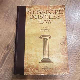 Textbook: Singapore Business Law (5th Ed) By Benny S Tabalujan & Valerie Du Toit-Low