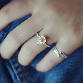 超美925純銀小雛菊戒指