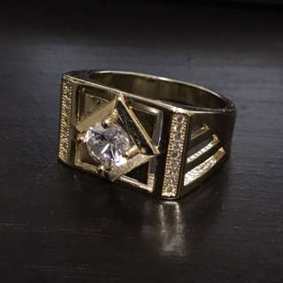 Gold Plated Diamond Ring