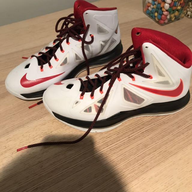 99% NEW Nike LeBron 10X white