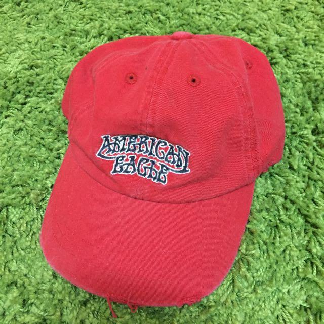 老帽/古著/紅色帽子/藍色帽子