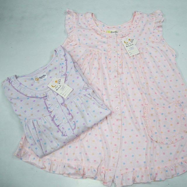 夏季無袖睡衣_手繪點點款(粉色、紫色)