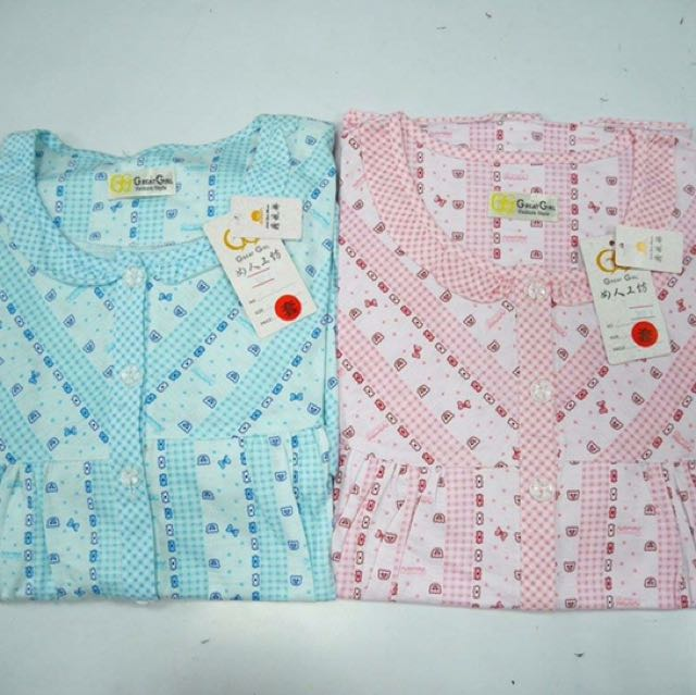 夏季短袖睡衣_滿版圖騰款(藍色、粉色)