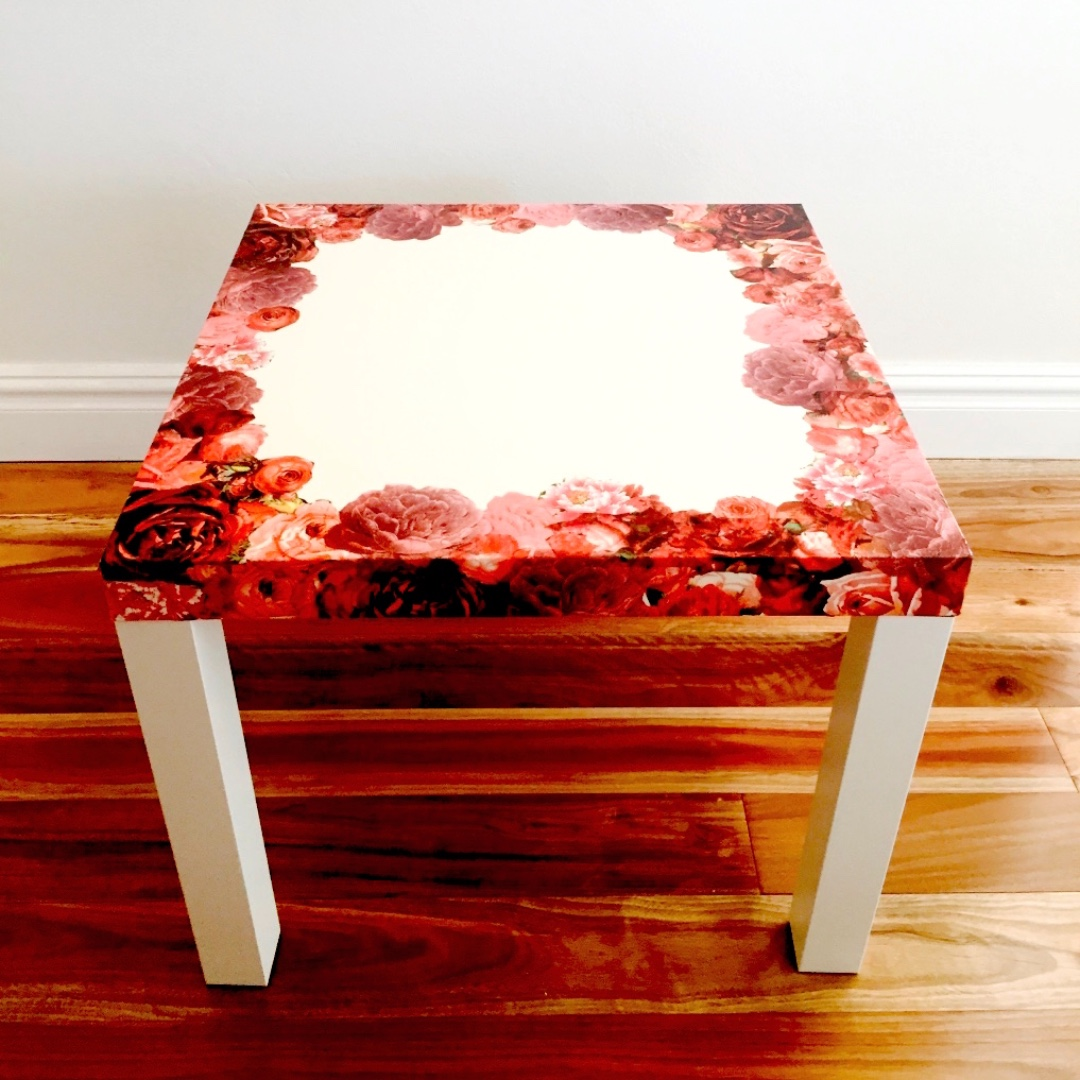 Adorable handmade decoupage floral coffee/side table