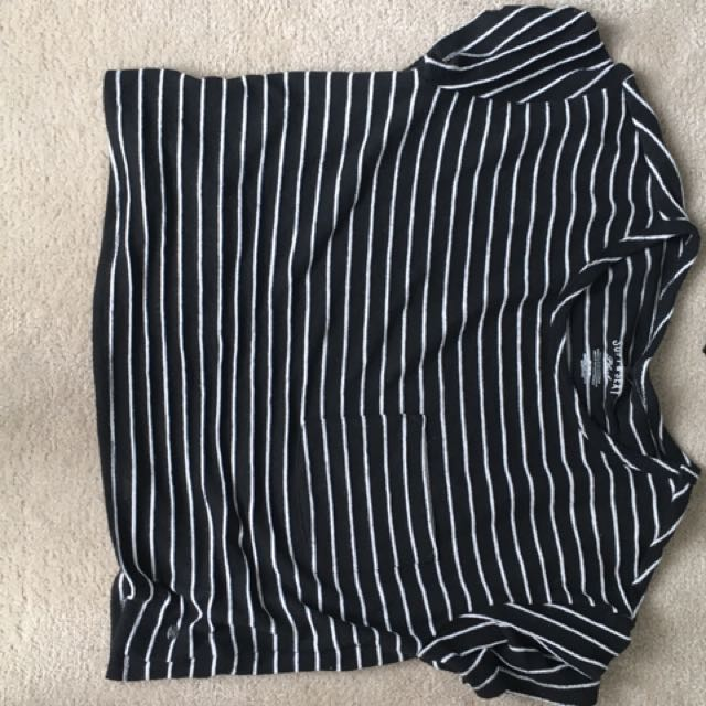 AE Striped Crop Boxy Tee