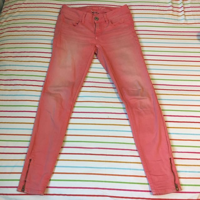 American Eagle Size 4 Pink Jeans