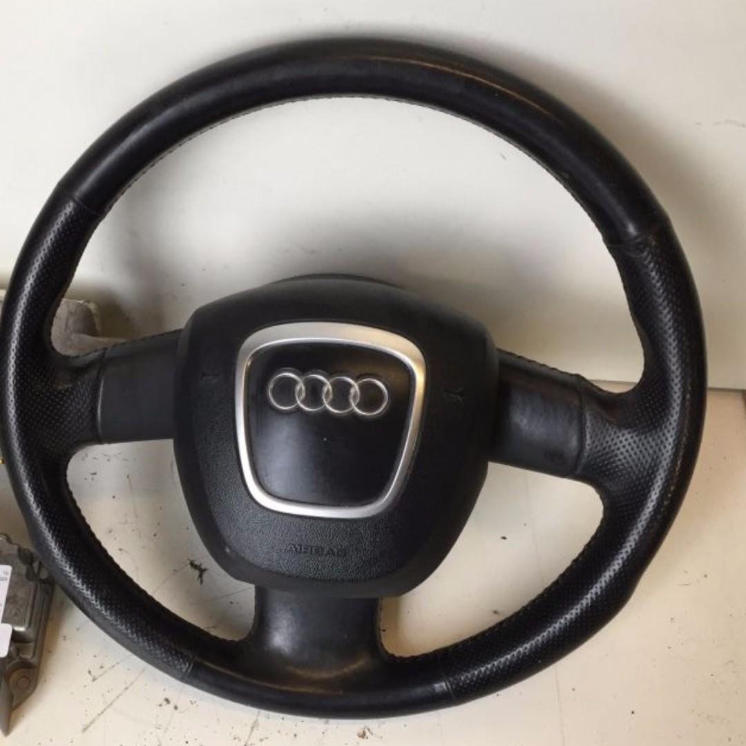 AUDI 奧迪A4 B7 2.0TDI 方向盤含氣囊-現貨