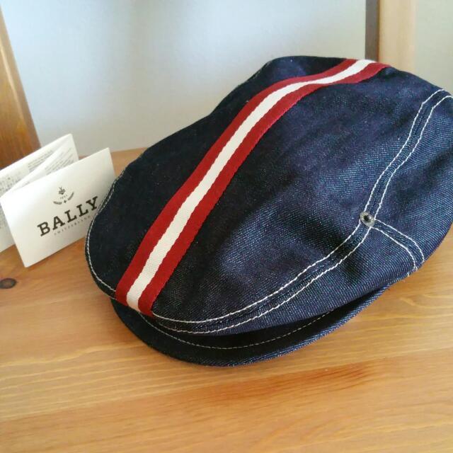 AUTH BALLY Jeans Beret Cap Hat