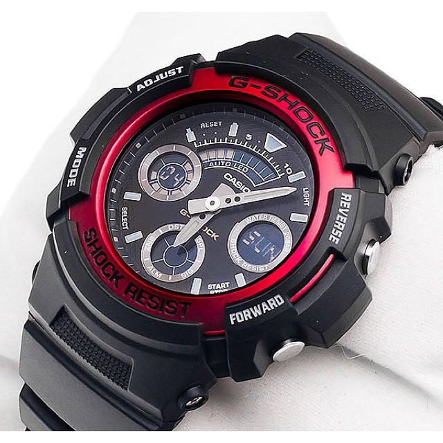 51ee0ae6ca71 Authentic Brand New Casio G-Shock AW-591-4A Red Men s Resin Watch ...