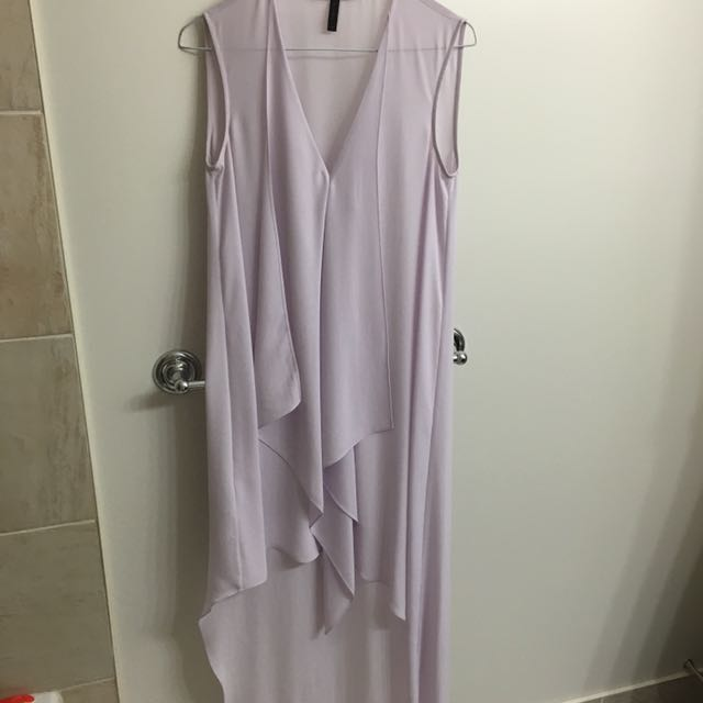 BCBG Lavender Asymmetric Dress