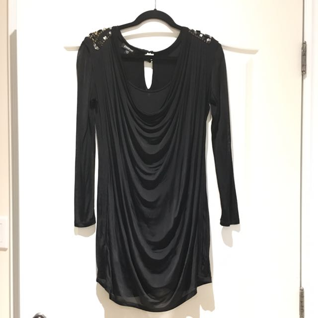 Bebe Sequence Silk Dress