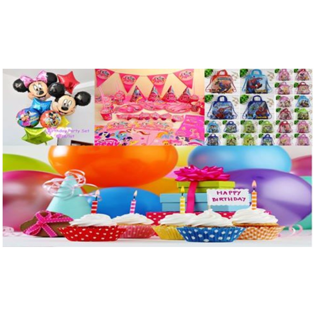 BIRTHDAY PARTY PACKAGE DECORATION STUFF , Babies \u0026 Kids on