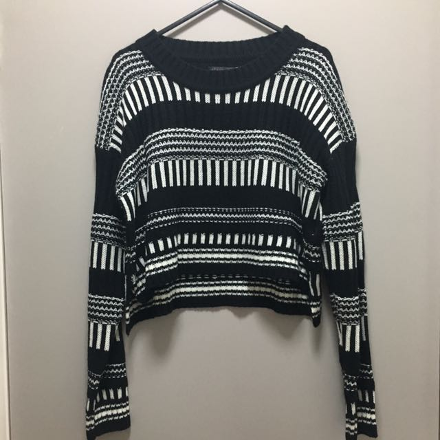 Black And White Thick Jumper