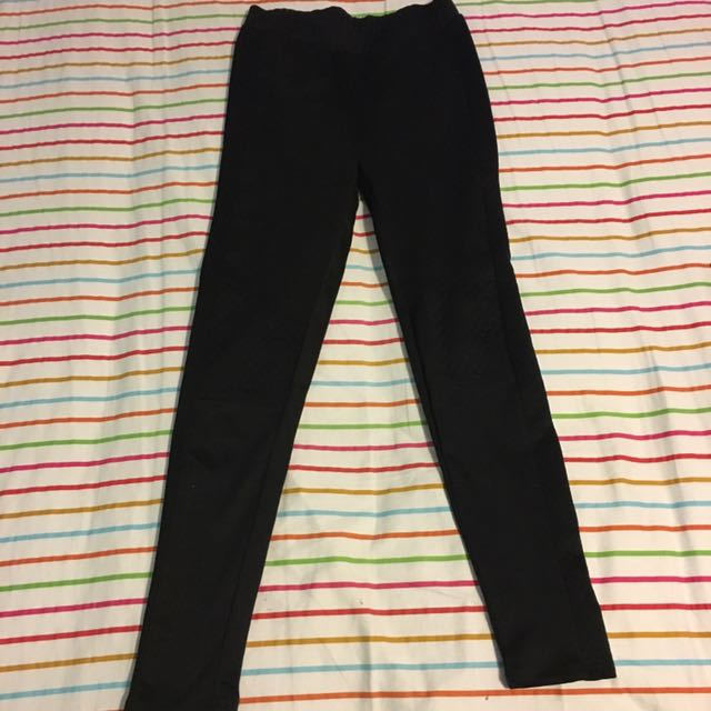Black Quilted Leggings