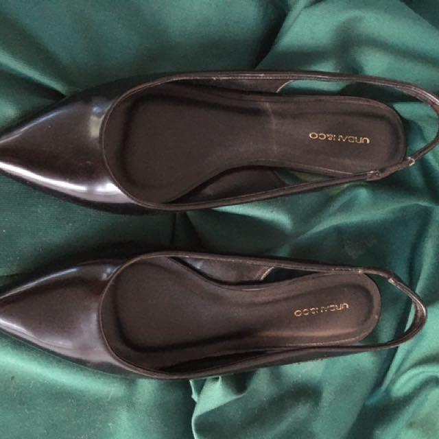 Black Slingback Sandals