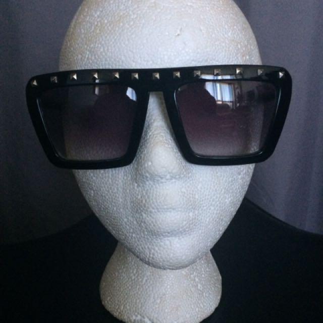 Black Studded Sunglasses