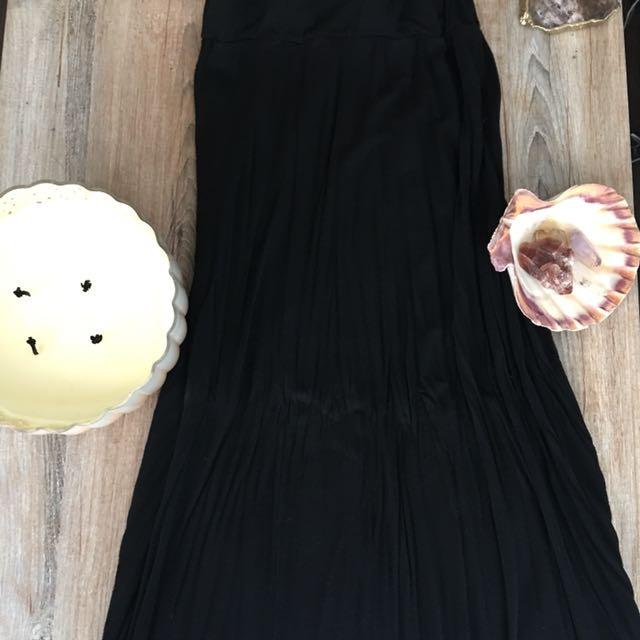 Brandy Melville Black Maxi Skirt With Slit