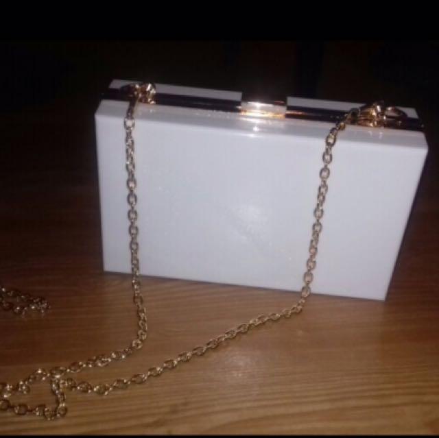 Clutch Bag Purse White