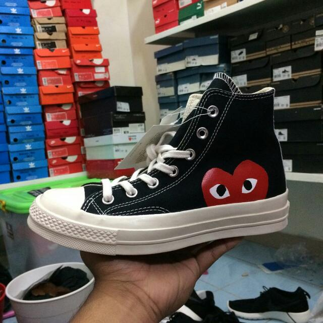 Converse X CDG Play Black HI And Low