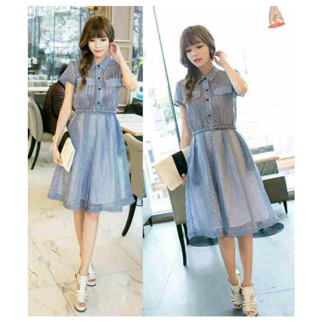 CS705 Dress salur blue
