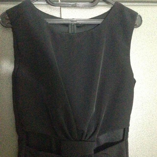 cut out dress mini hitam black