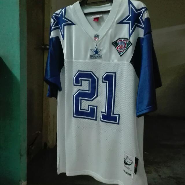 meet 5e256 b72e1 Dallas Cowboys Throwback #21 Deion Sanders Primetime