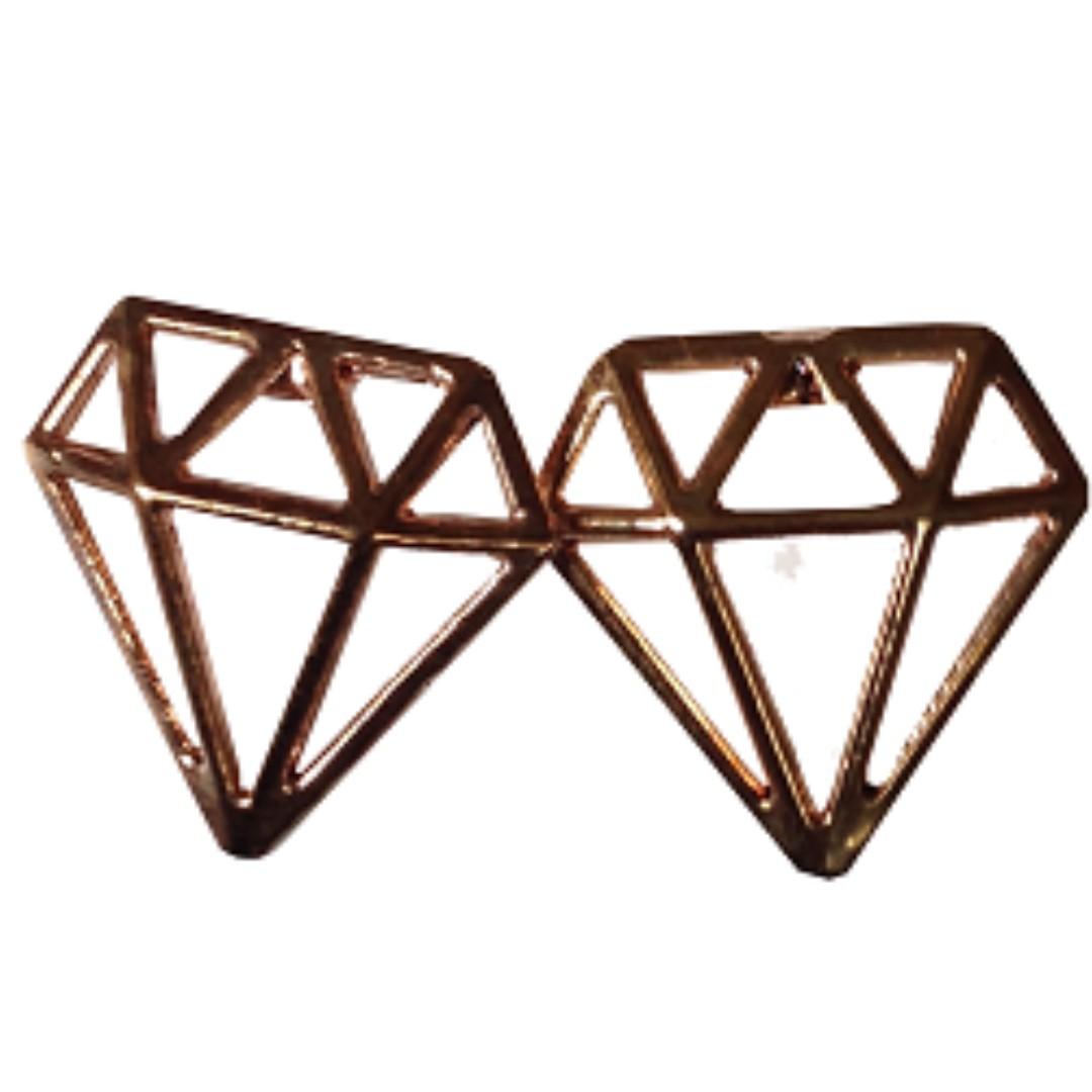 Diamond Shaped Stainless Earrings