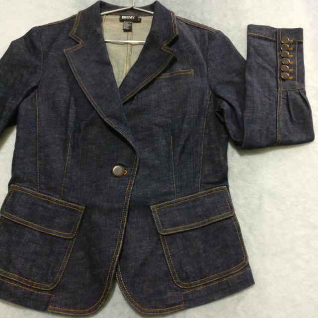 DKNY Dark Washed Denim Jacket