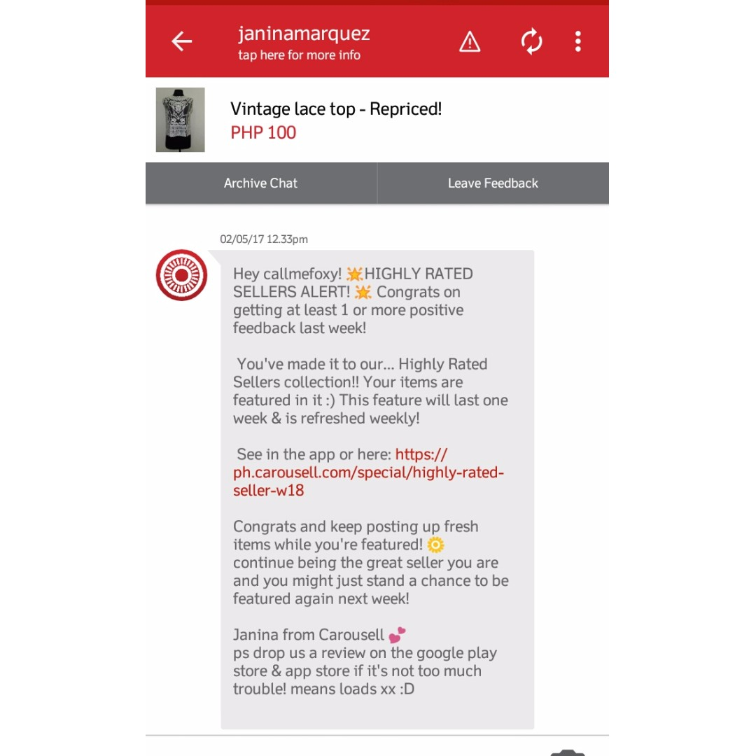 Featured! Thank you carousell :)