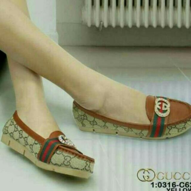 Flatshoes Loafers Gucci Adelle Choco
