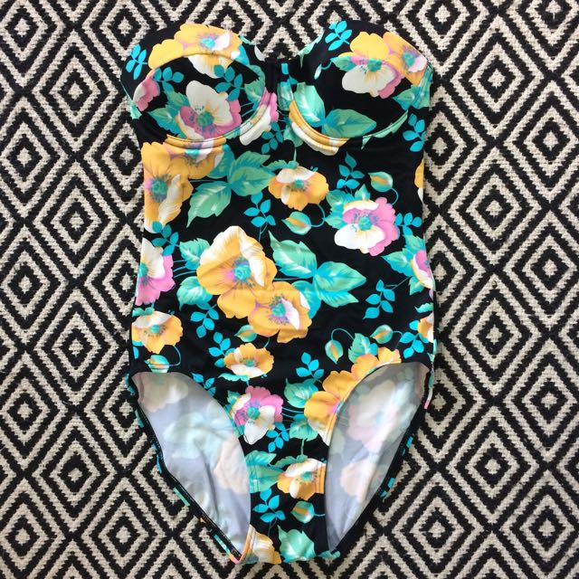 Floral One Piece Swimwear