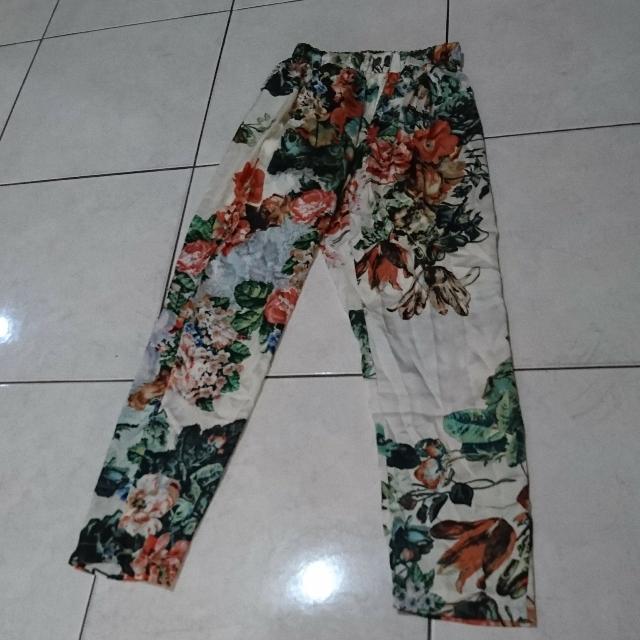 FLOWER HAREM PANTS