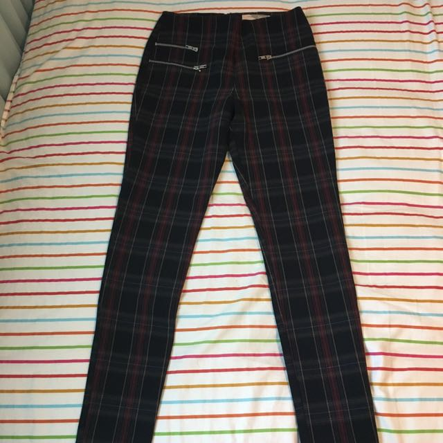 Forever 21 Plaid Legging Trousers