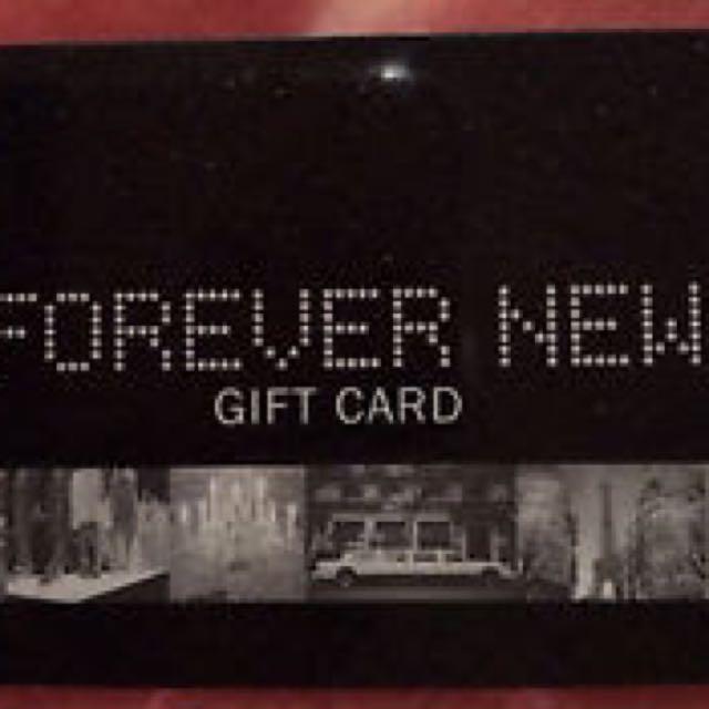 Forever new 100$ gift card