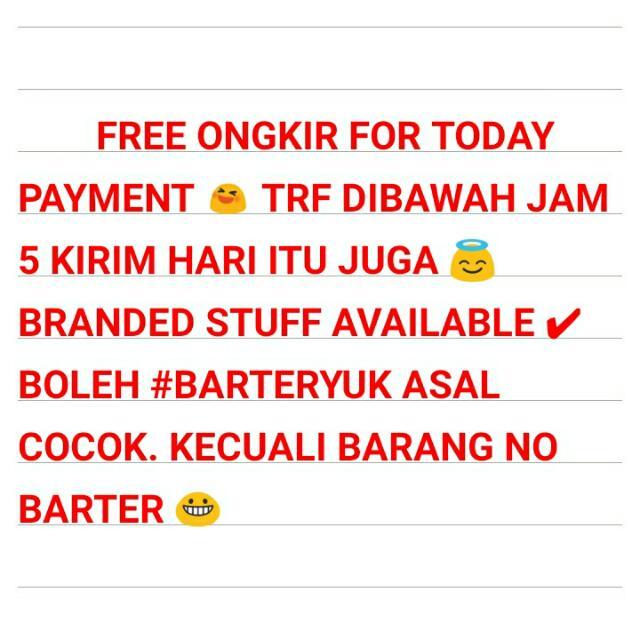 Freeongkir & #barteryuk
